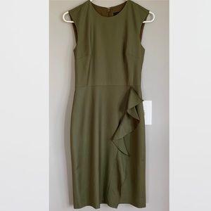 J. Crew Ruffle Sheath Dress in Super 120s Wool